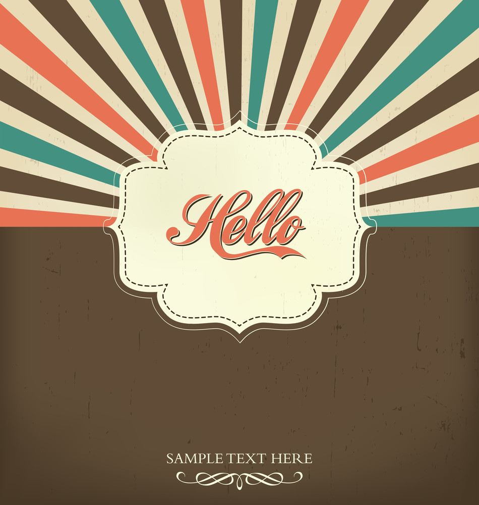 Vintage Design Template - Hello