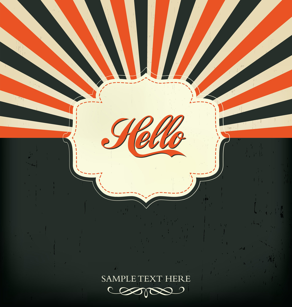 Vintage Design Template - Hello