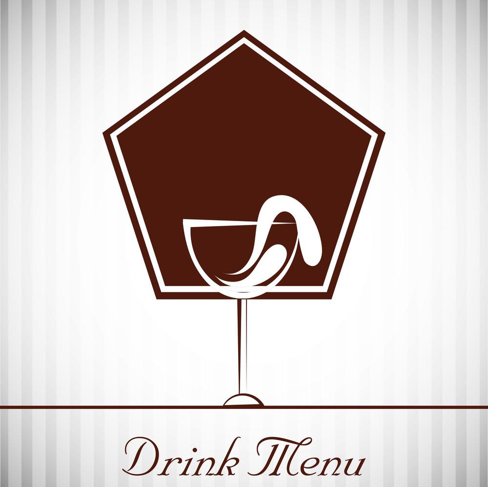 Vintage Drink Menu Cards Design
