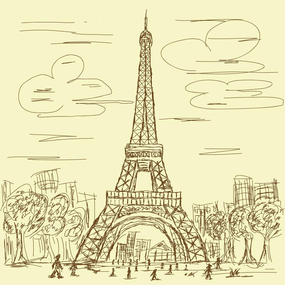 Vintage Eifel Tower