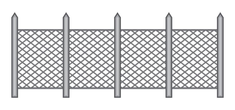 Vintage Fence Border