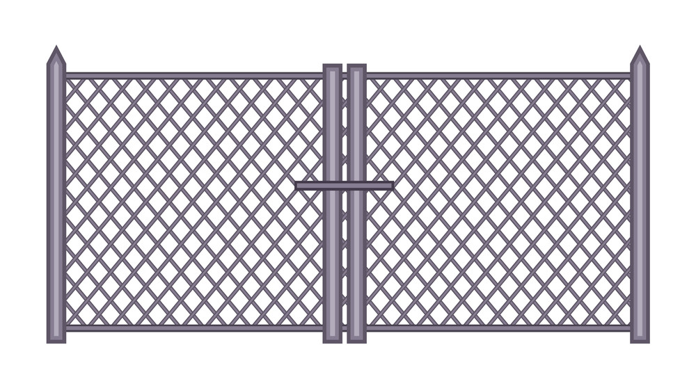 Vintage Fence Gate Design Royalty-Free Stock Image - Storyblocks