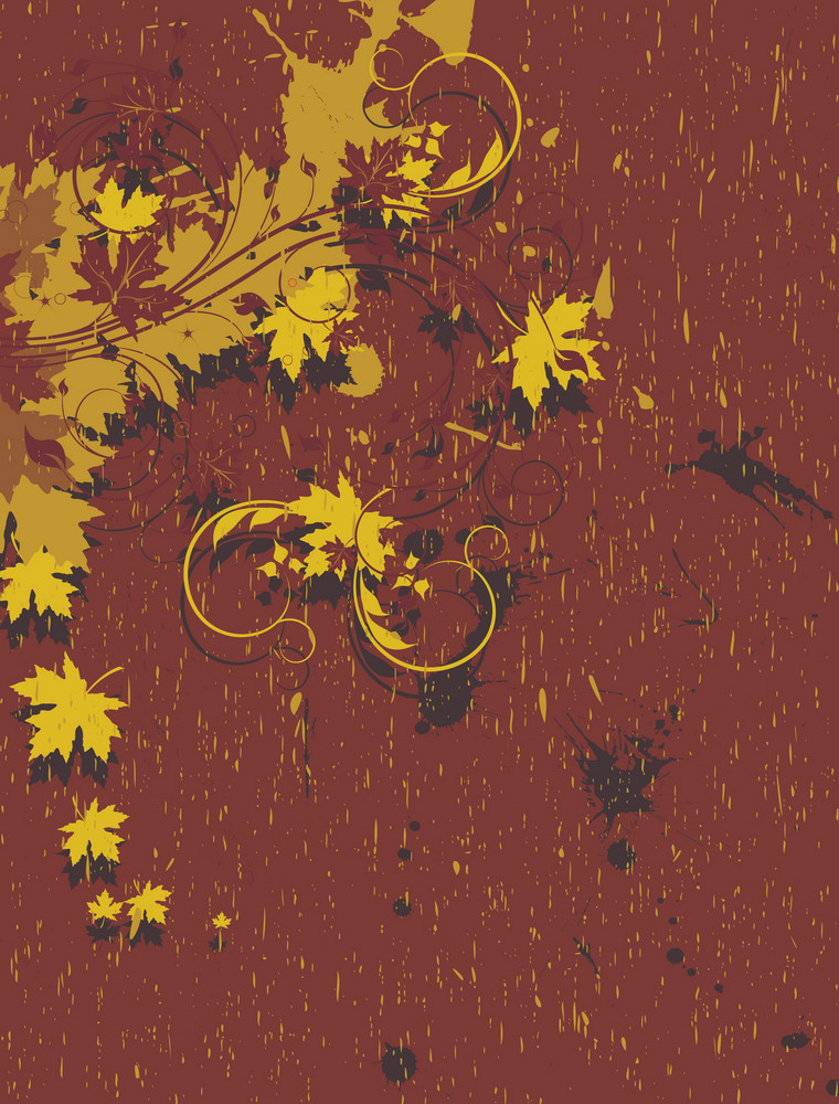 Vintage Floral Background Vector Illustration