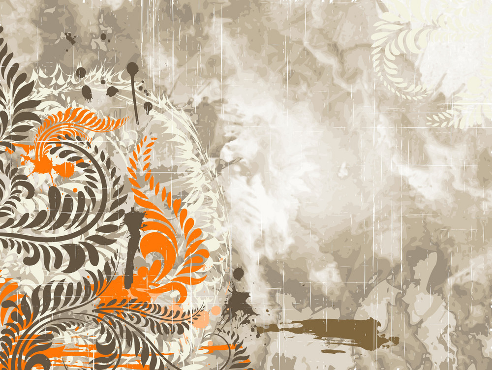 Vintage Floral Background Vector Illustration