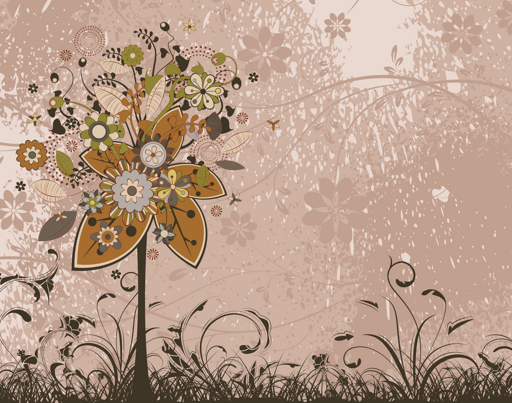 Vintage Floral Background