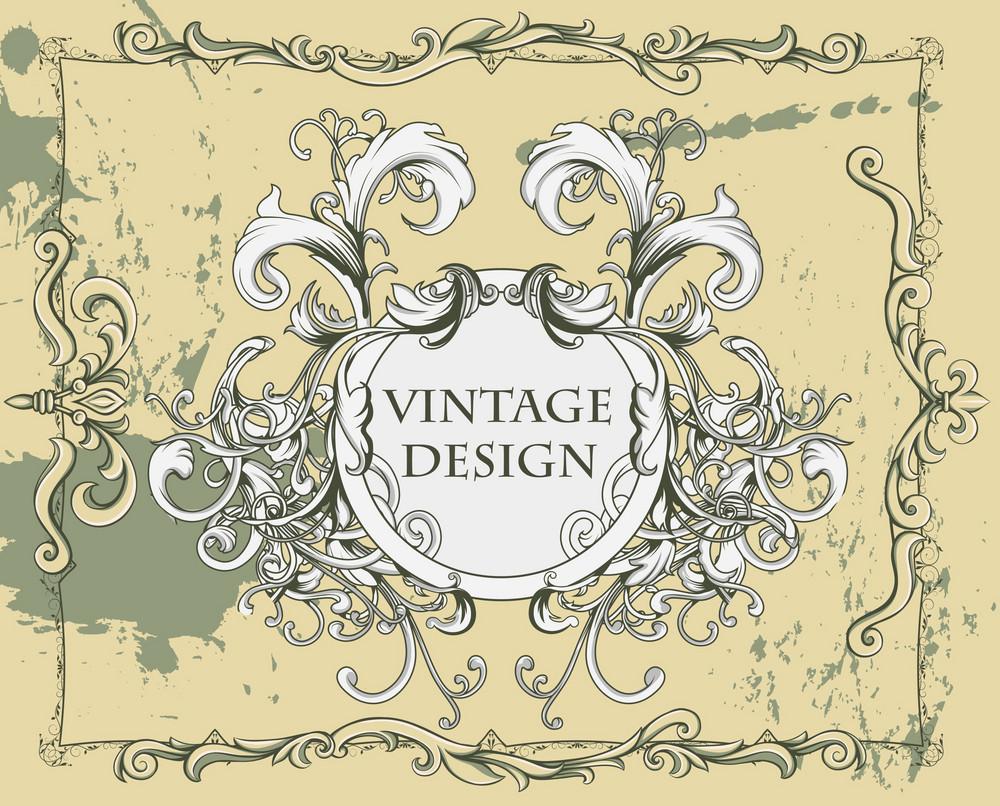 Vintage Floral Frame Vector Illustration