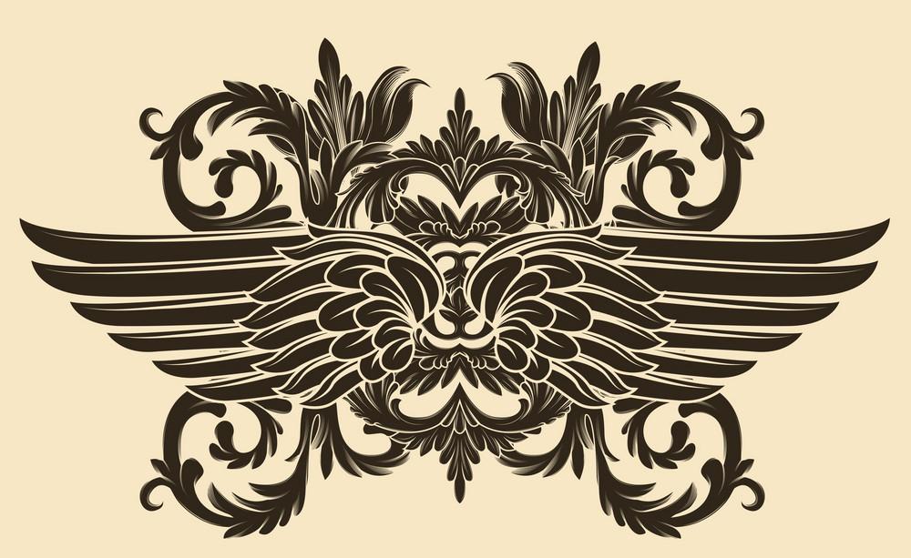 Vintage Floral With Wings