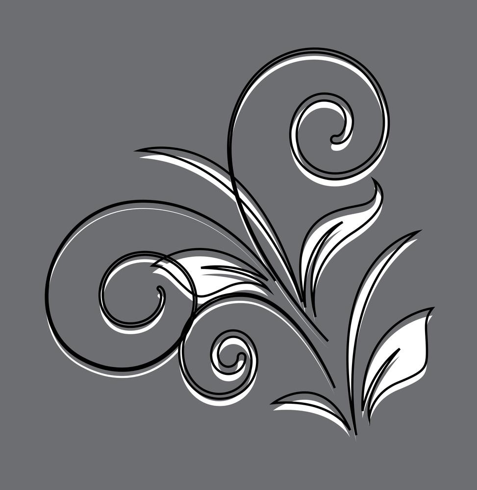 Vintage Flourish Design Art