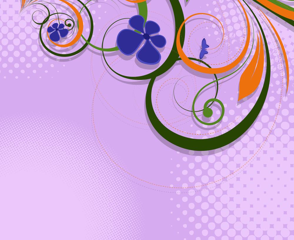 Vintage Flourish Halftone Texture Background