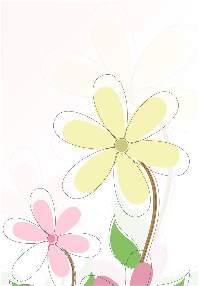Vintage Flower Holiday Background