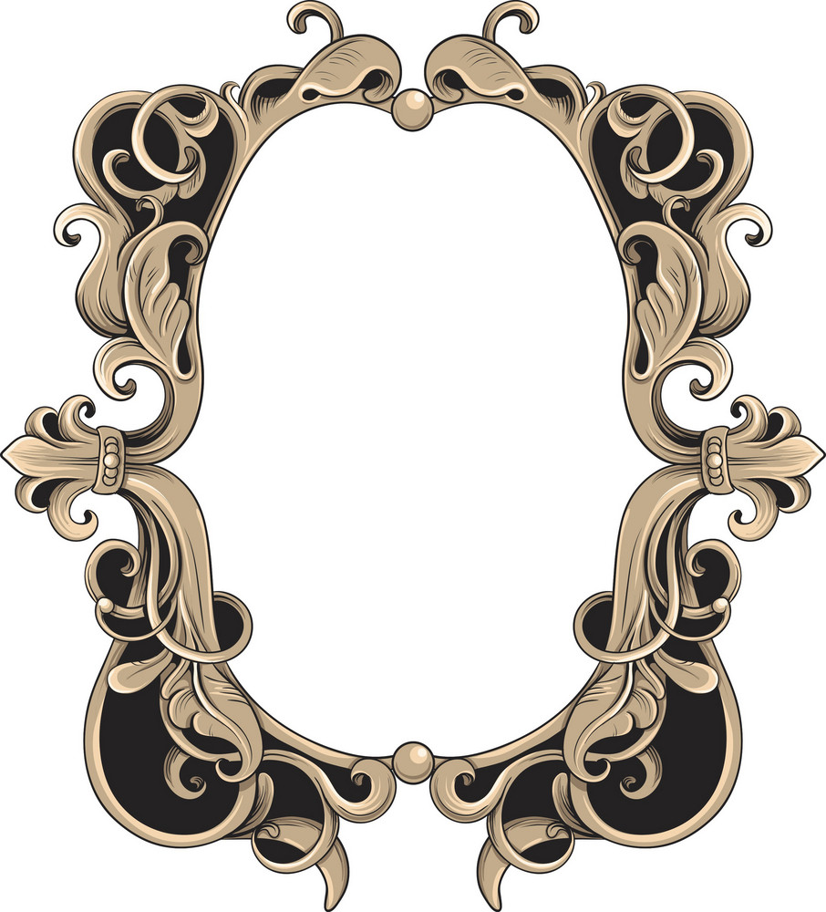Vintage frame vector element royalty free stock image for Old antique frames