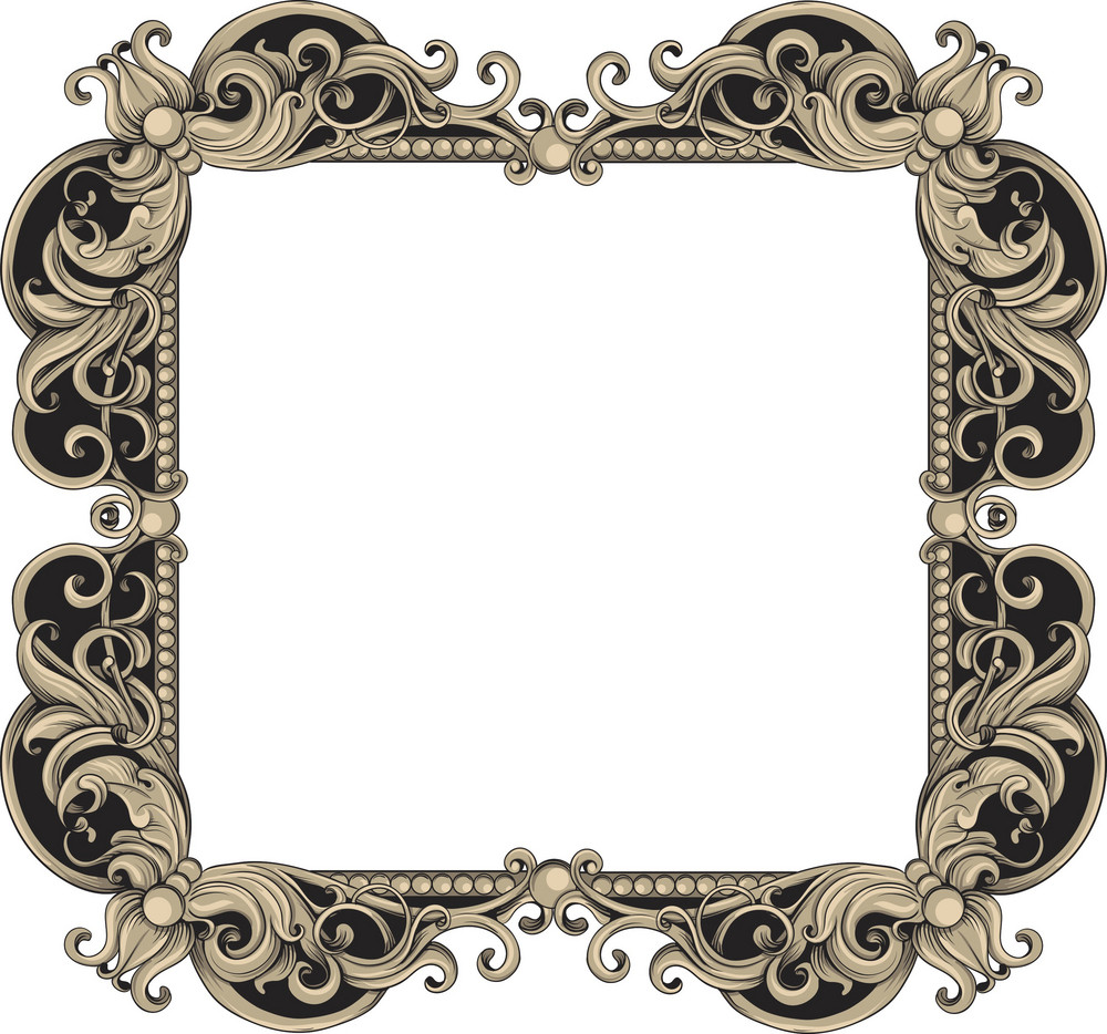 Vintage Frame Vector Element Royalty-Free Stock Image
