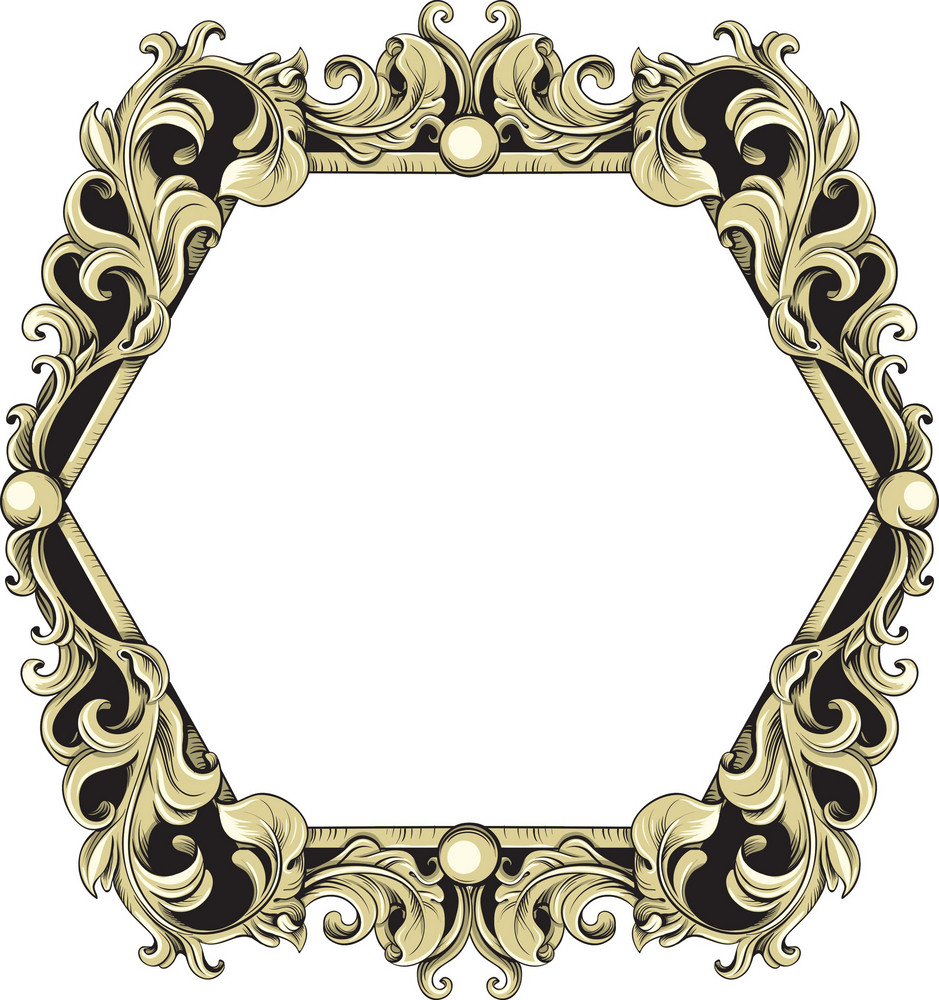 Vintage frame vector element royalty free stock image for How to make vintage frames