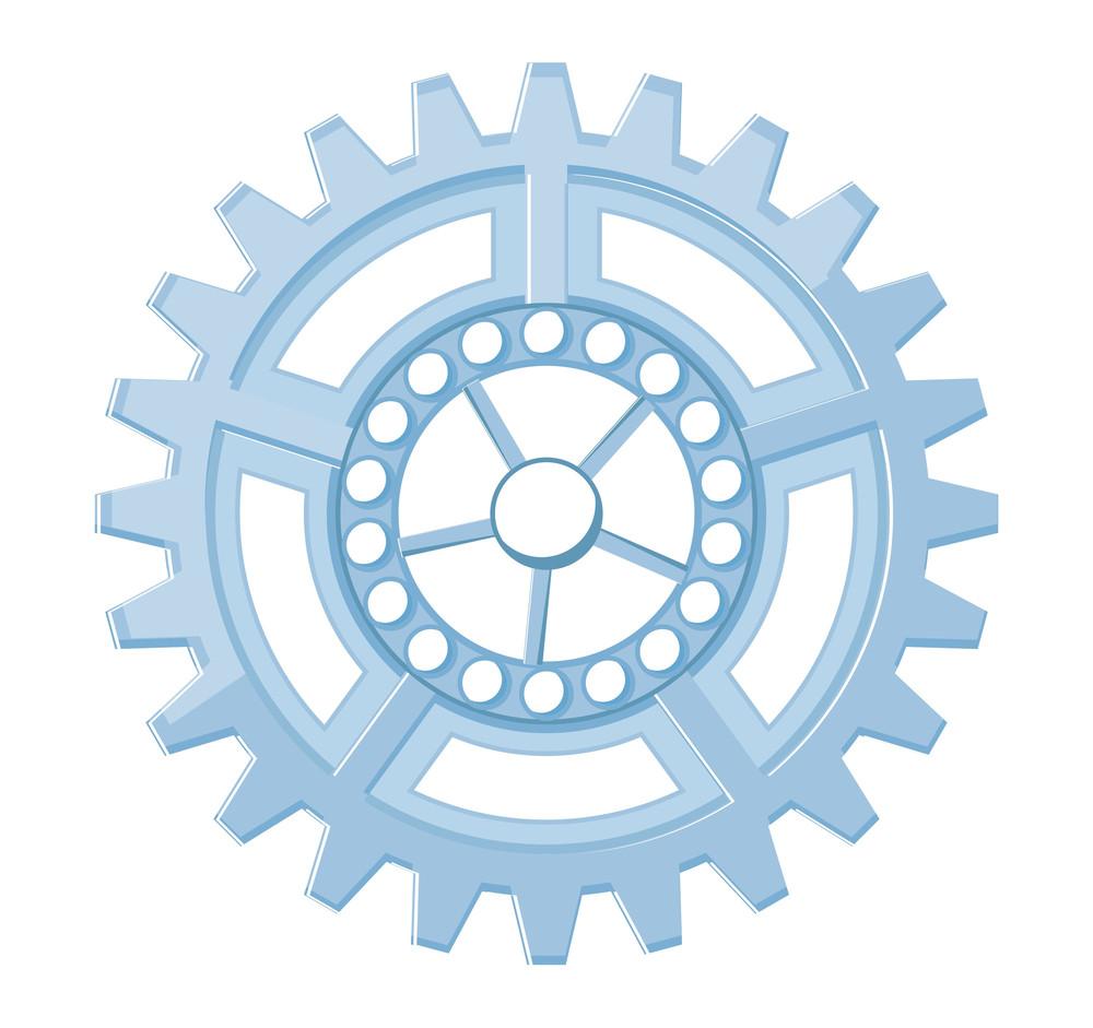 Vintage Gear Wheel Frame