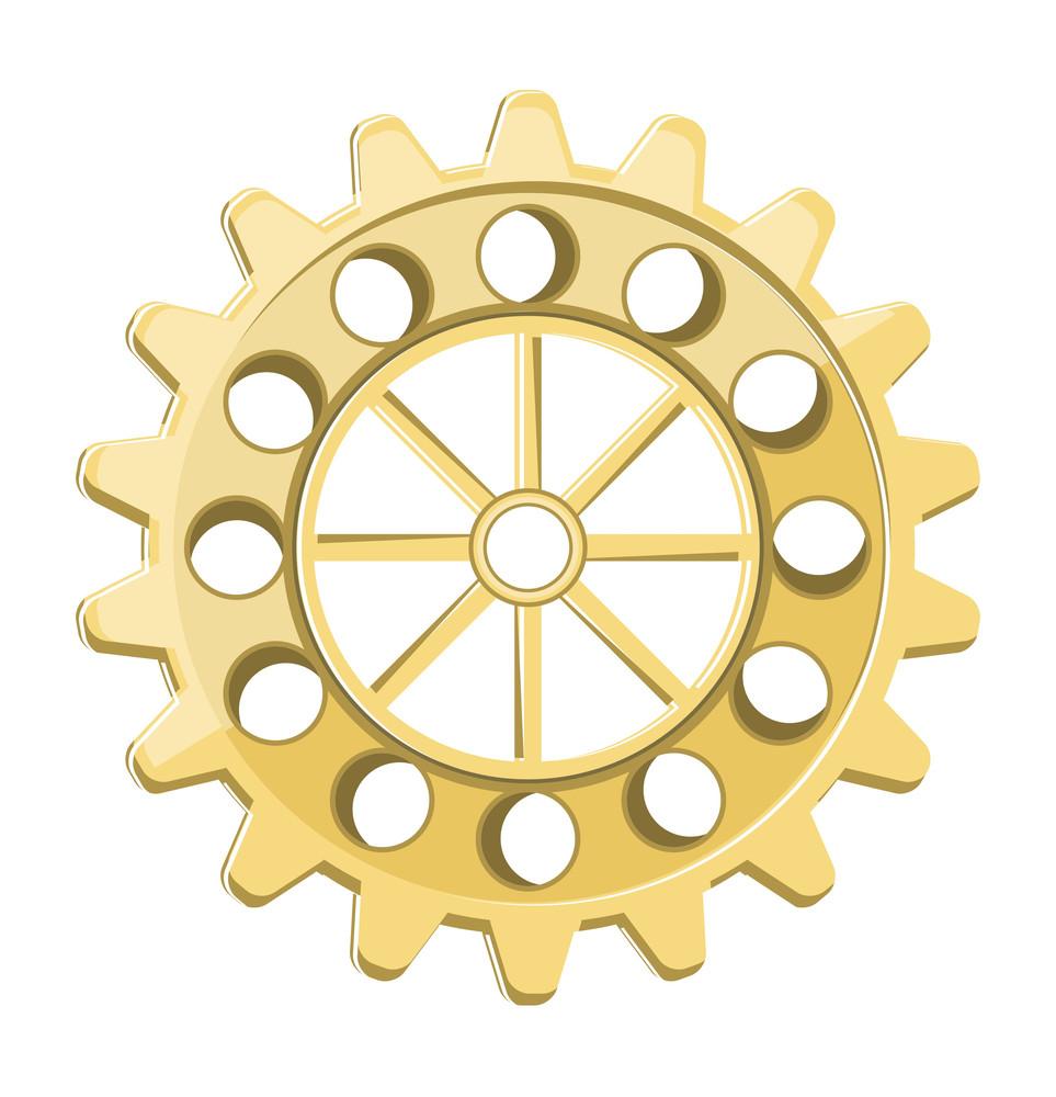 Vintage Gear Wheel Vector