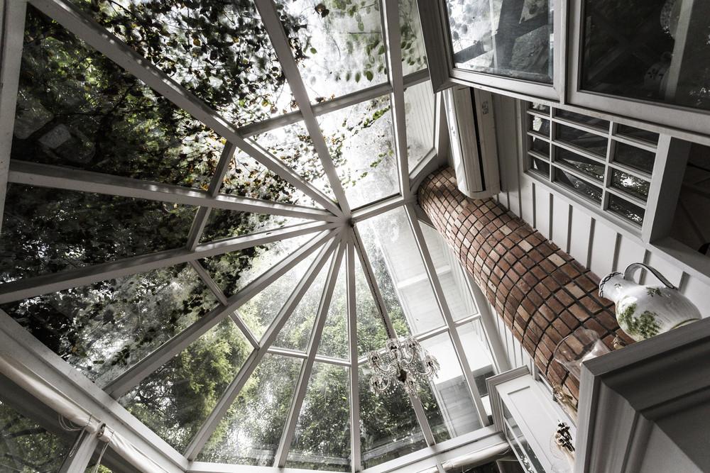 Vintage glass roof