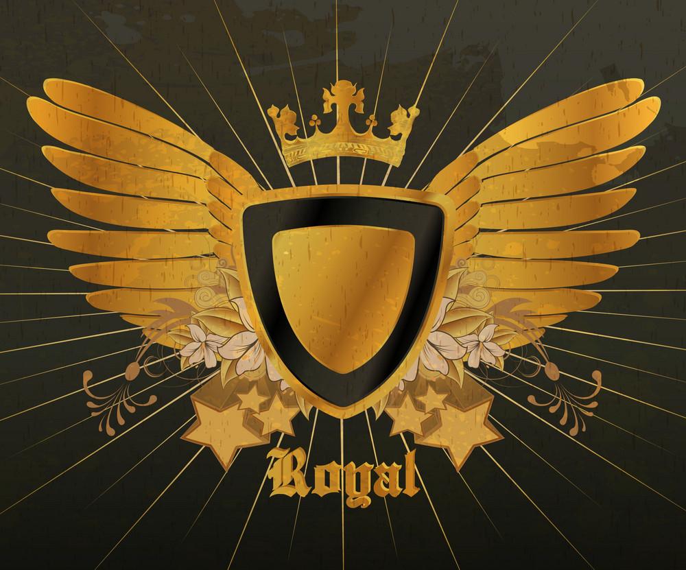 Vintage Gold Emblem Vector Illustration