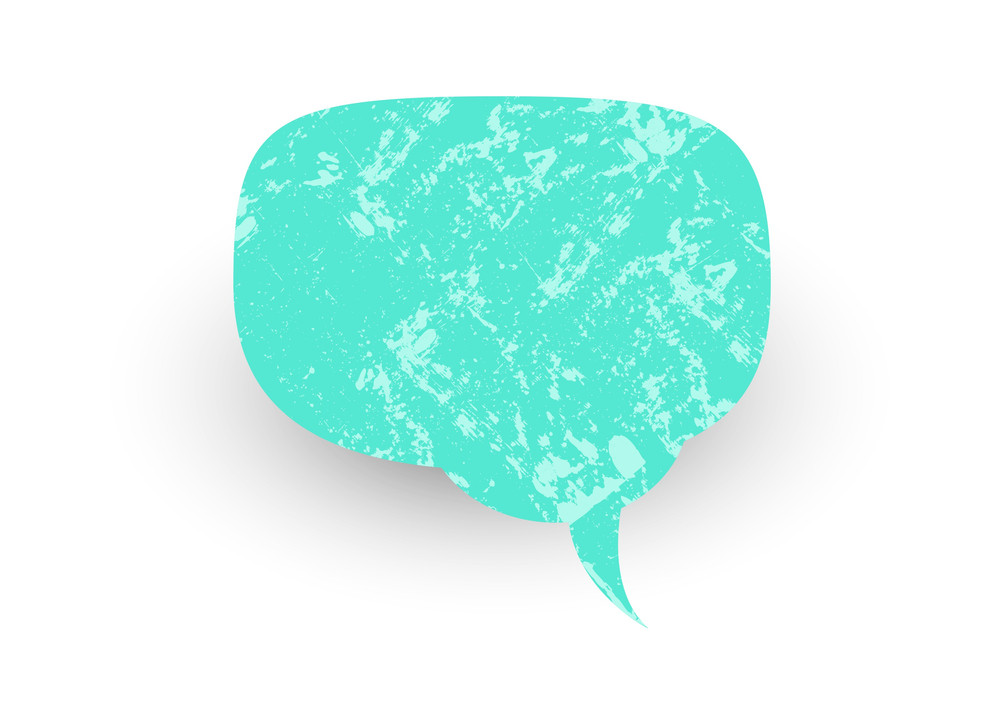 Vintage Grunge Speech Bubble
