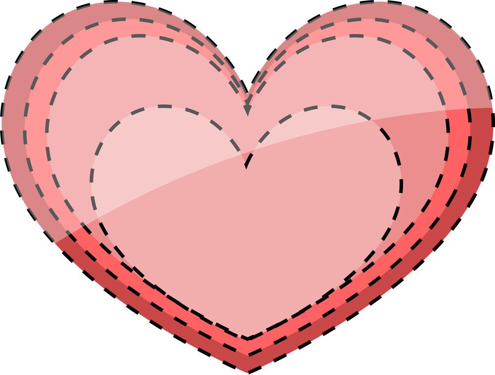 Vintage Heart Design Element