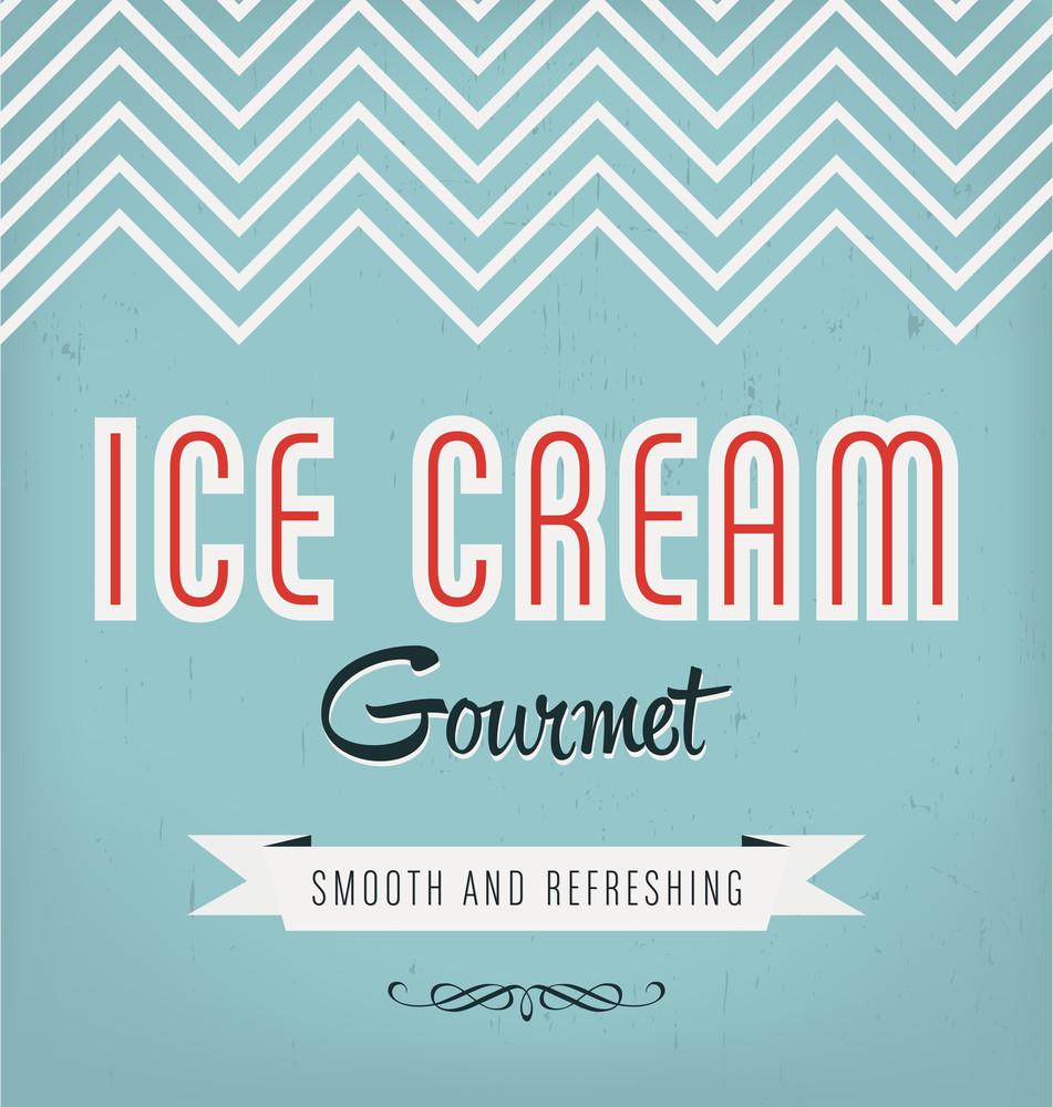 Vintage Ice Cream Label Design