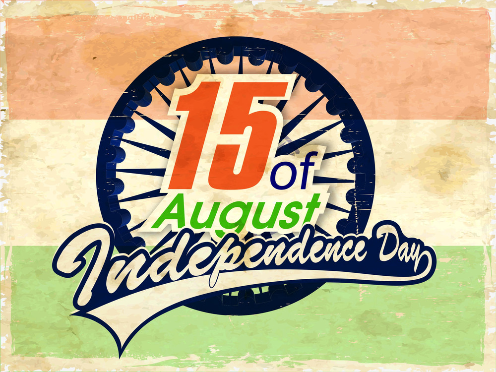 Vintage Indian Independence Day Background