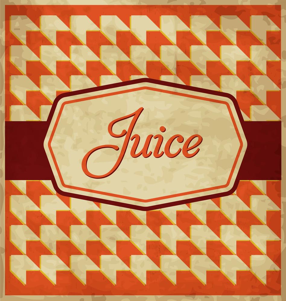 Vintage Juice Label Design