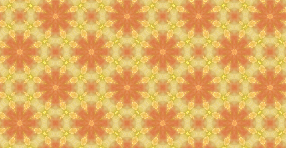 Vintage Kaleidoscope Floral Pattern Background