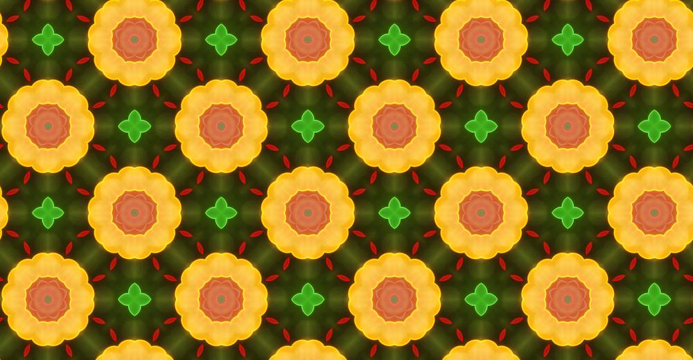 Vintage Kaleidoscope Floral Pattern