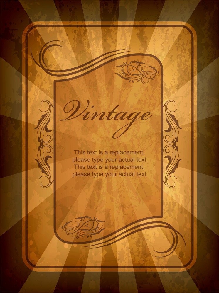 Vintage Label Vector Illustration