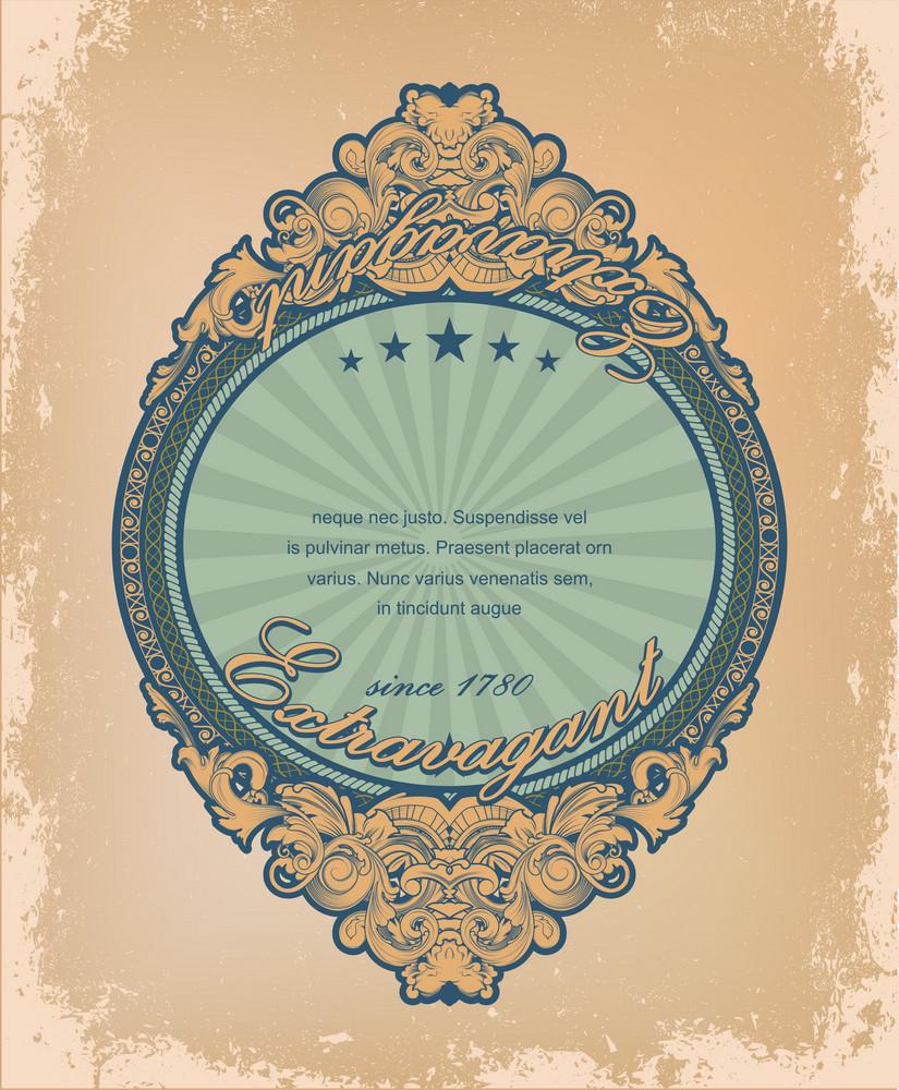 Vintage Label With Grunge Background Vector Illustration
