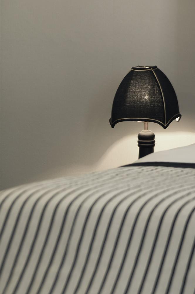 Vintage lamp in bedroom