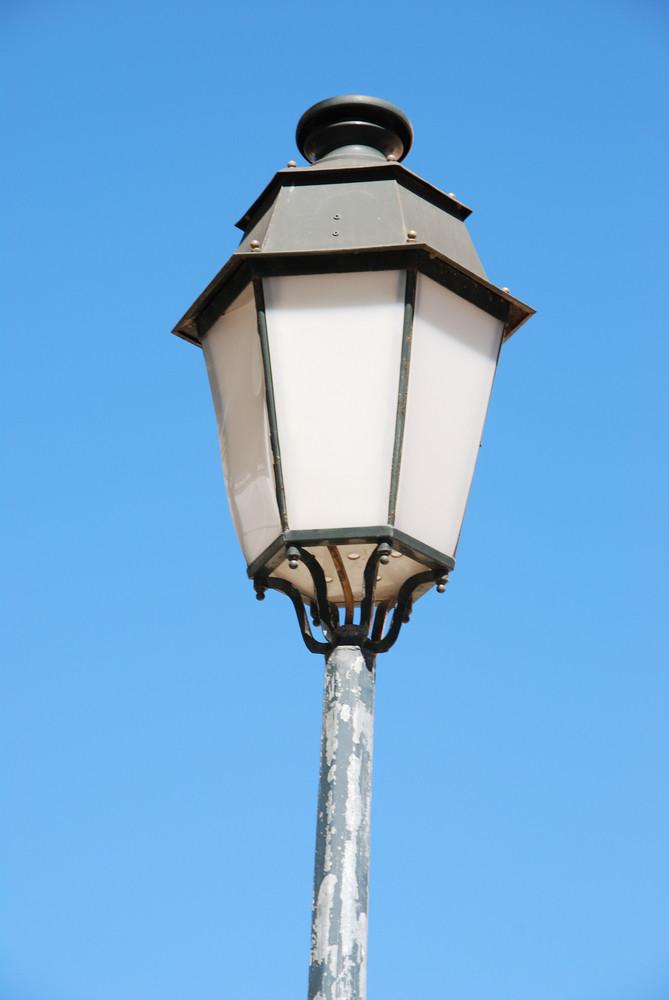 Vintage Lamp Post (blue Sky Background)