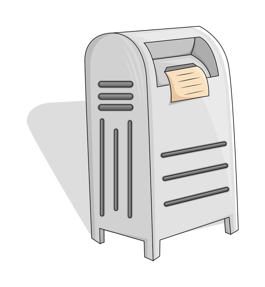 Vintage Letter Box Vector Illustration