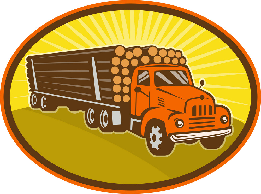 Vintage Logging Truck