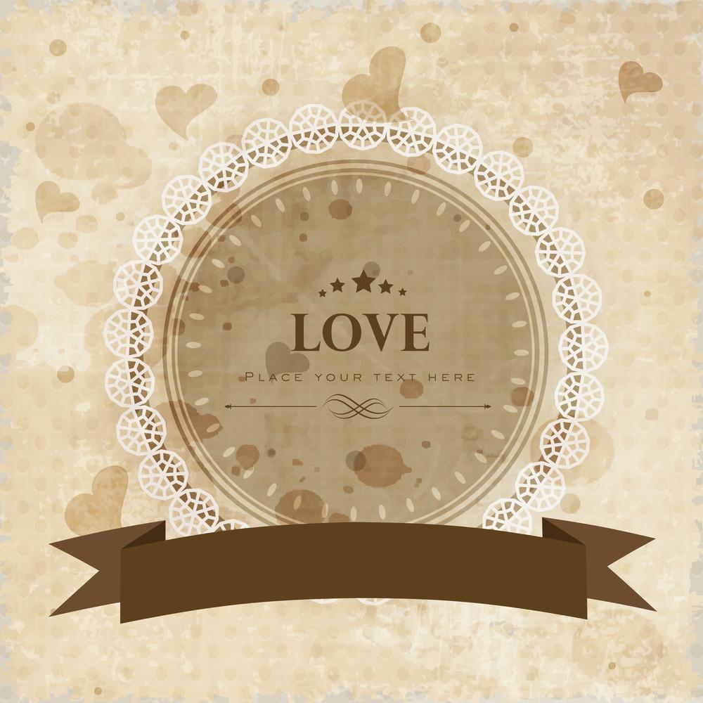 Vintage Love Background.