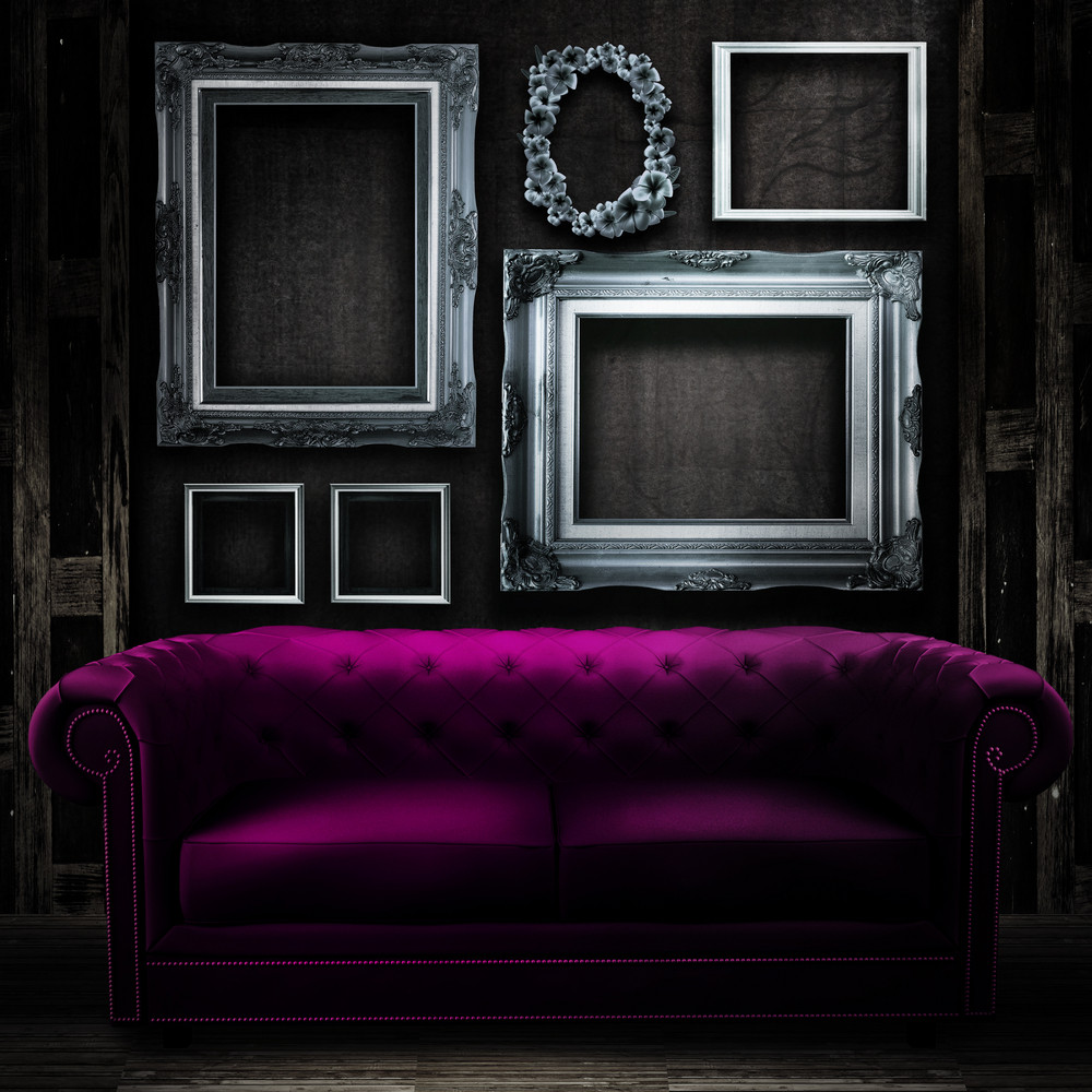 Vintage Luxury Armchair And Frame