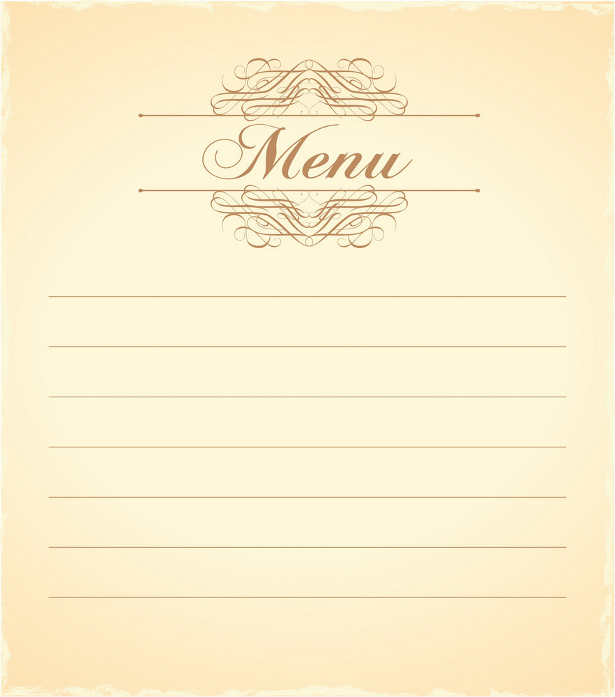 Vintage Menu Vector Illustration