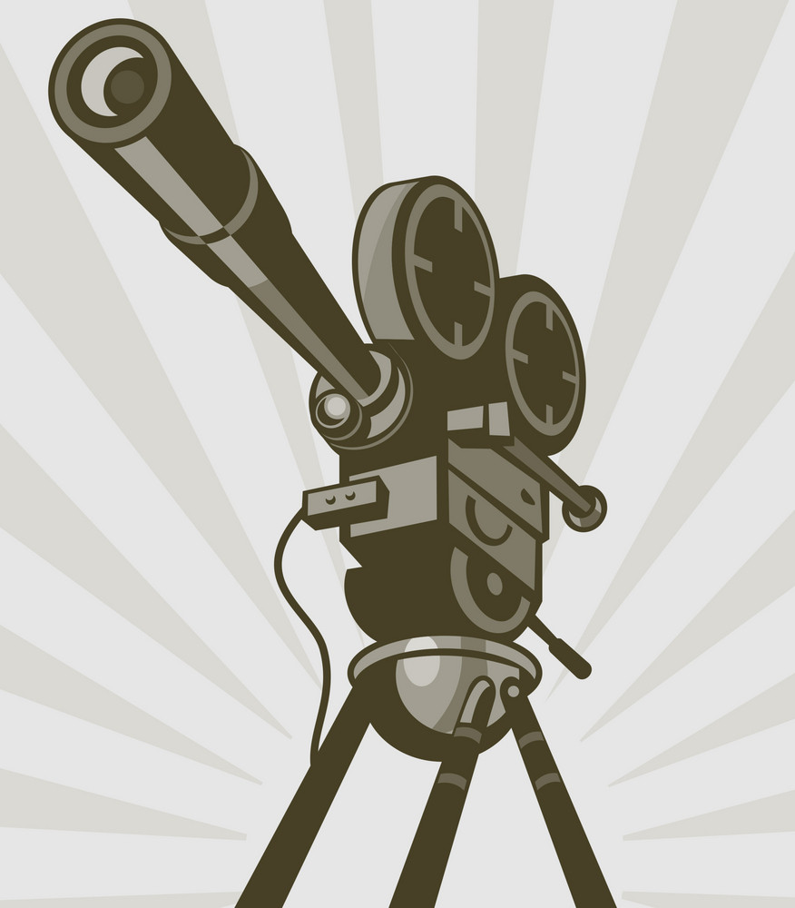 Vintage Movie Or Television Film Camera