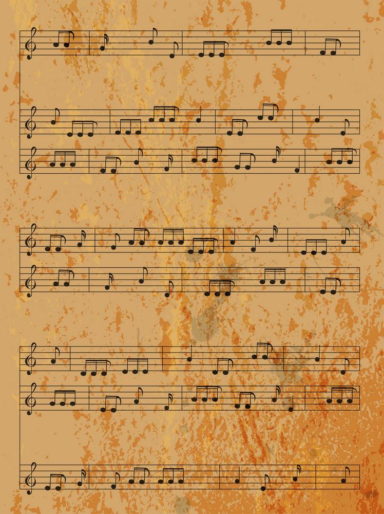 Vintage Music Background Vector Illustration