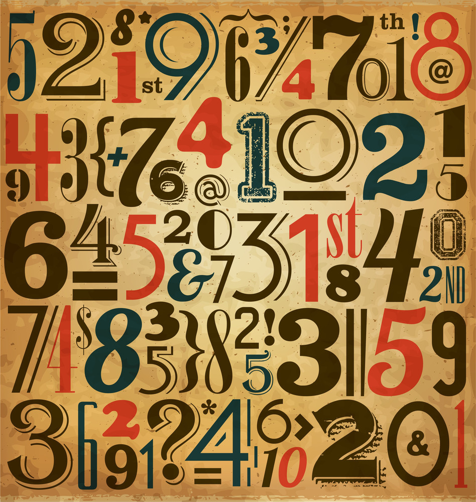 Vintage Numbers - Typographic Background