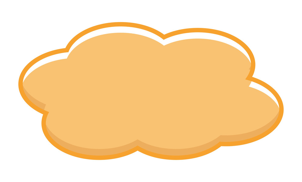 Vintage Orange Cloud