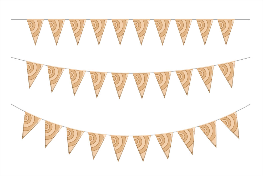 Vintage Paper Flags Elements