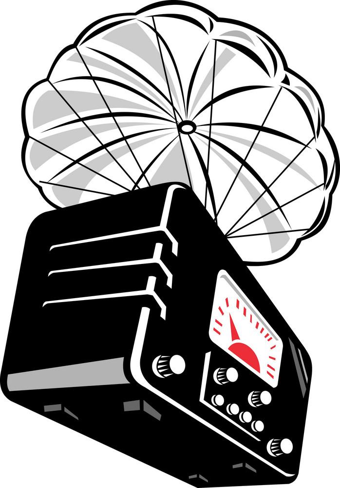 Vintage Radio With Parachute