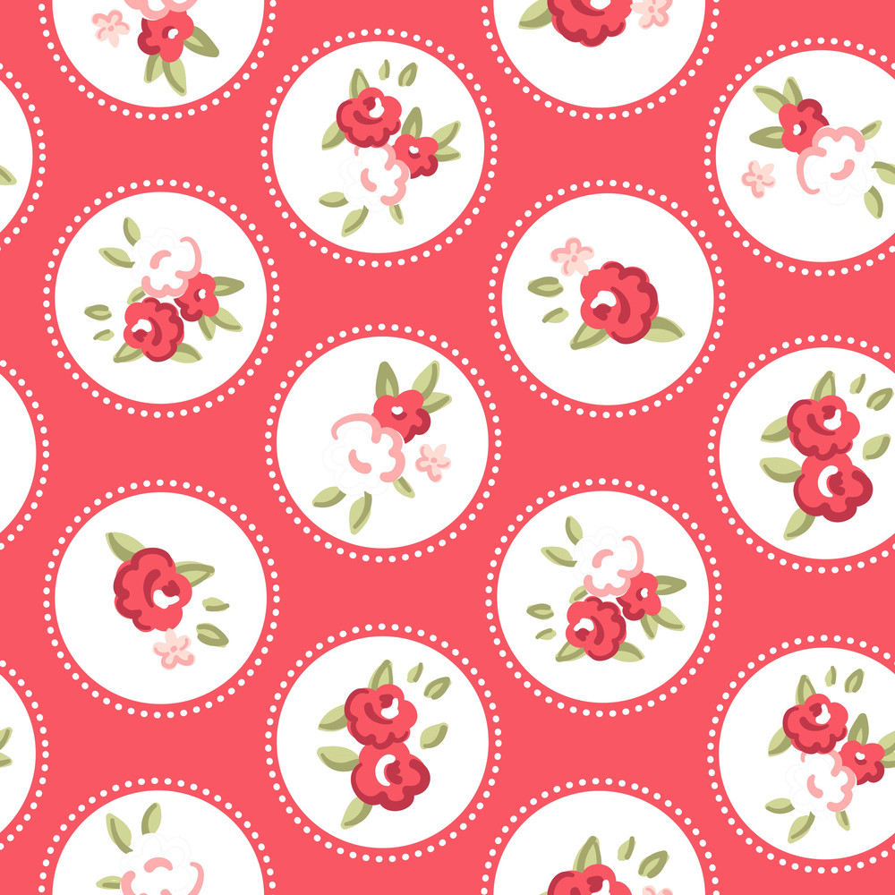Vintage Rose Pattern. Seamless Vector. Retro Rose Wallpaper