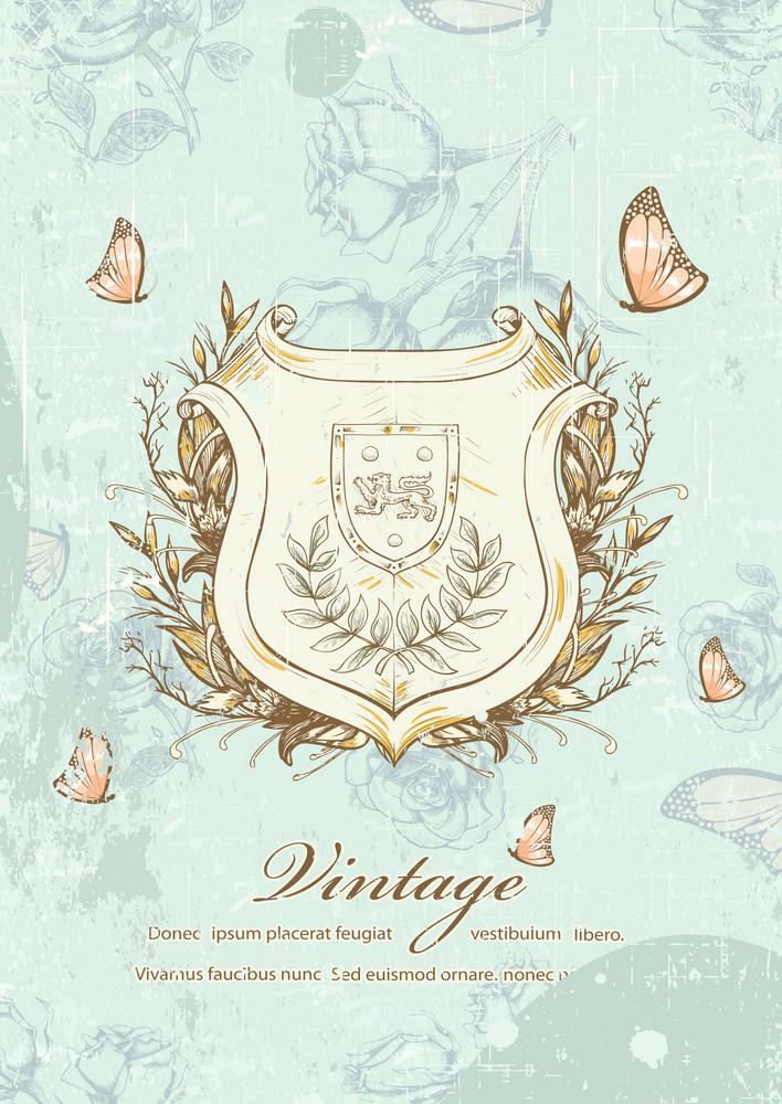 Vintage Shield Vector Illustration