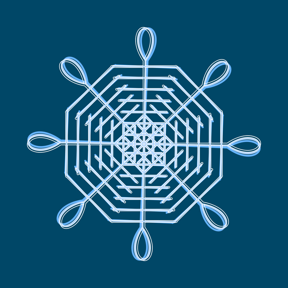 Vintage Snowflake Design