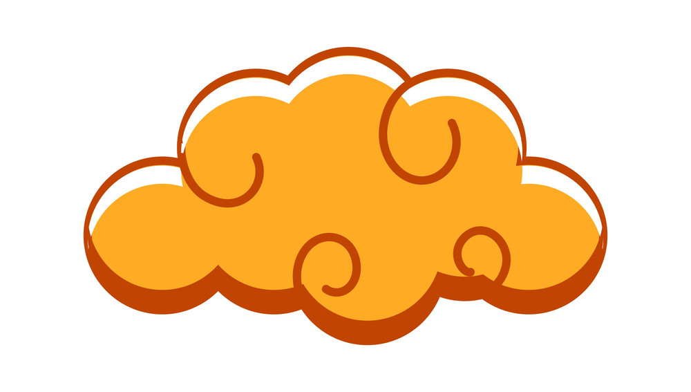 Vintage Spiral Cloud Vector