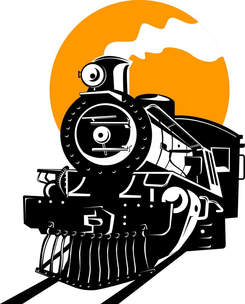 Vintage Steam Train Locomotive