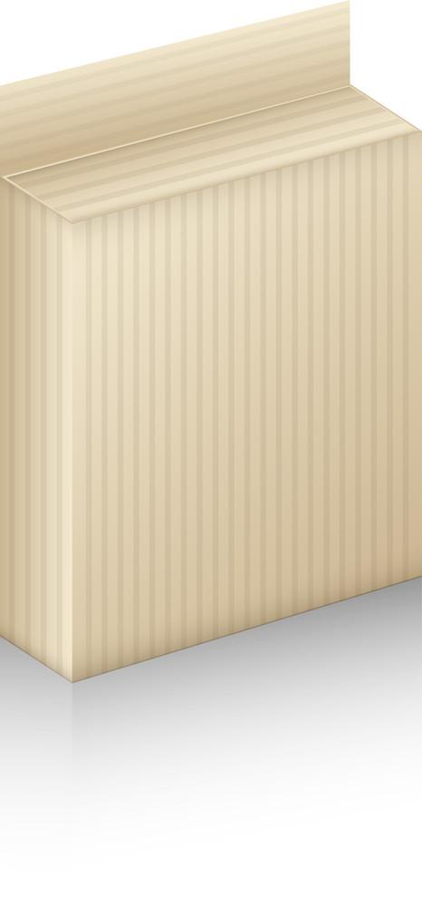 Vintage Striped Paper Box