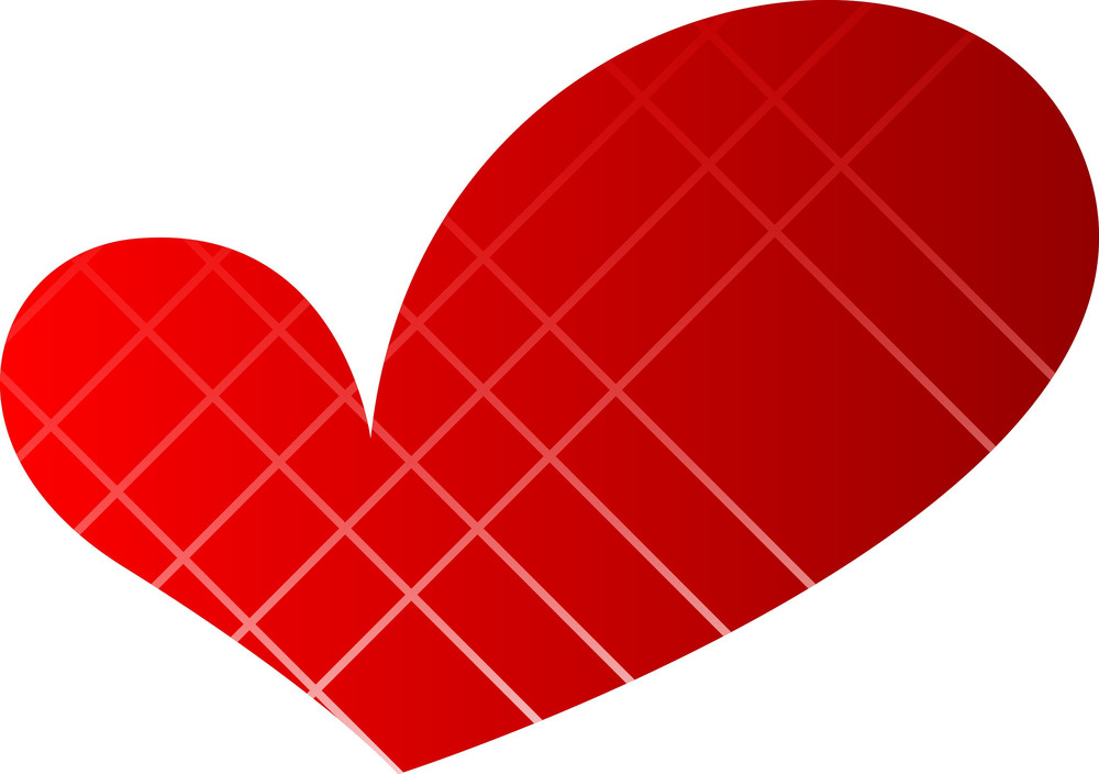 Vintage Striped Pattern Heart